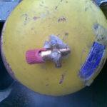 Estado do cilindro após explosão por falta de manutenção.
