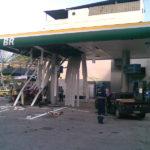 Posto após explosão por falta de manutenção cilindro GNV.